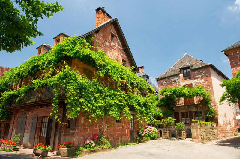 French Red Village Collonges La Rouge Royalty Free Stock Photography