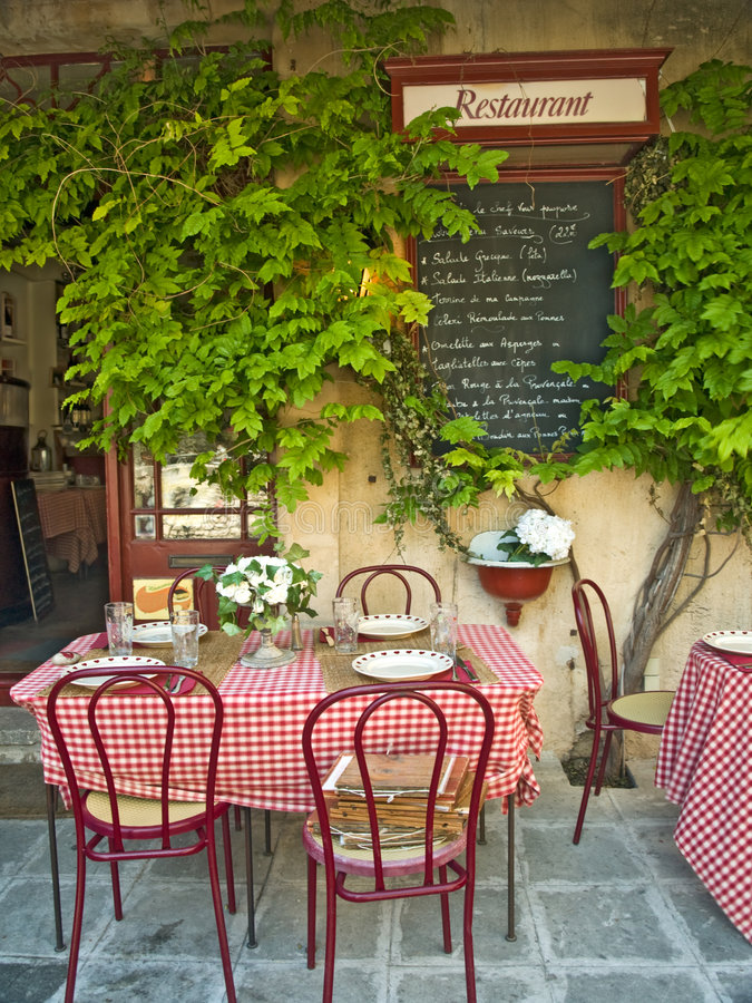 French restaurant stock photography