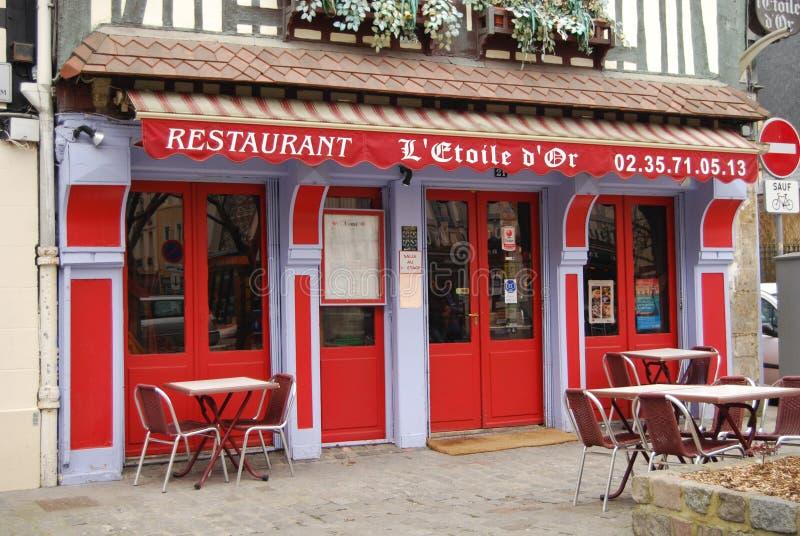 French restaurant royalty free stock photo