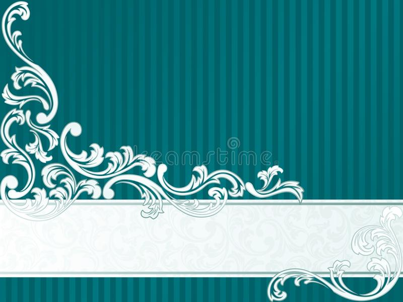 French retro banner in green royalty free stock photo