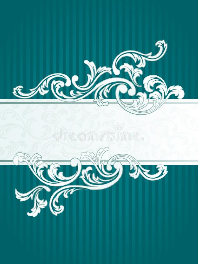 French retro banner in green royalty free illustration