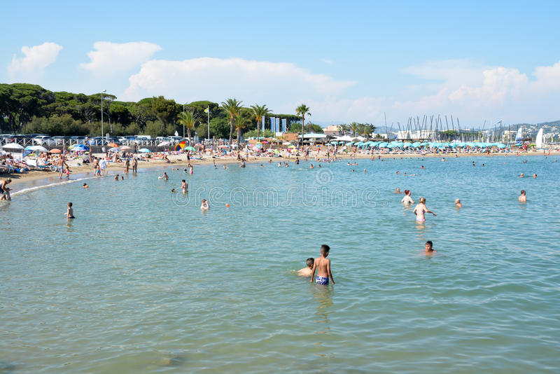 French Riviera beach royalty free stock photography
