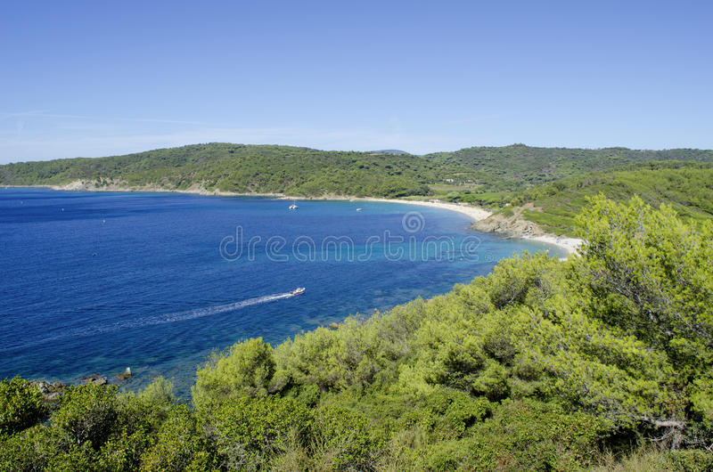 French riviera beaches, near to Saint-tropez stock image