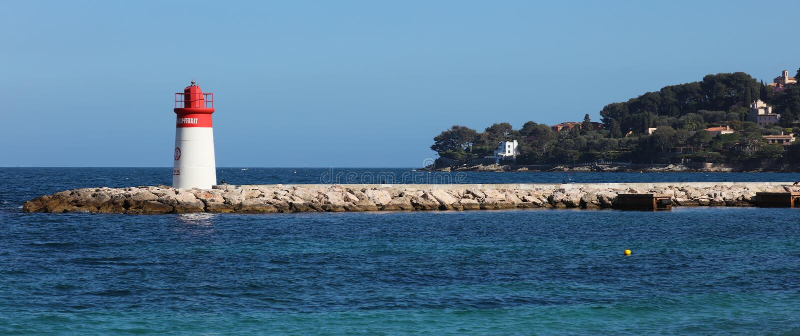 Nice French riviera, Côte d`Azur, mediterranean coast, Eze, Saint-Tropez, Cannes and Monaco. Blue water and luxury yachts. French riviera, Côte d`Azur royalty free stock images