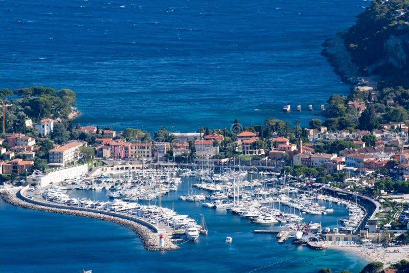 French Riviera coast stock photography