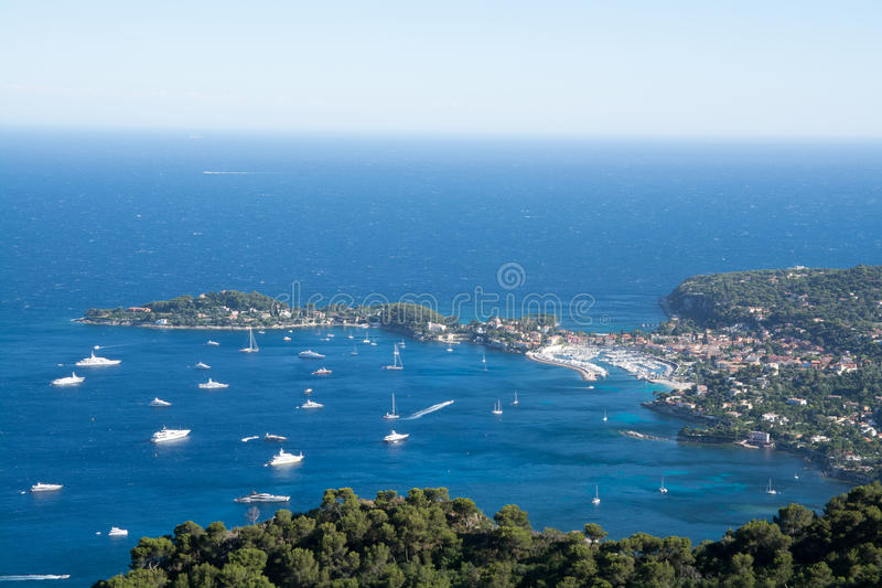 French Riviera coast stock images
