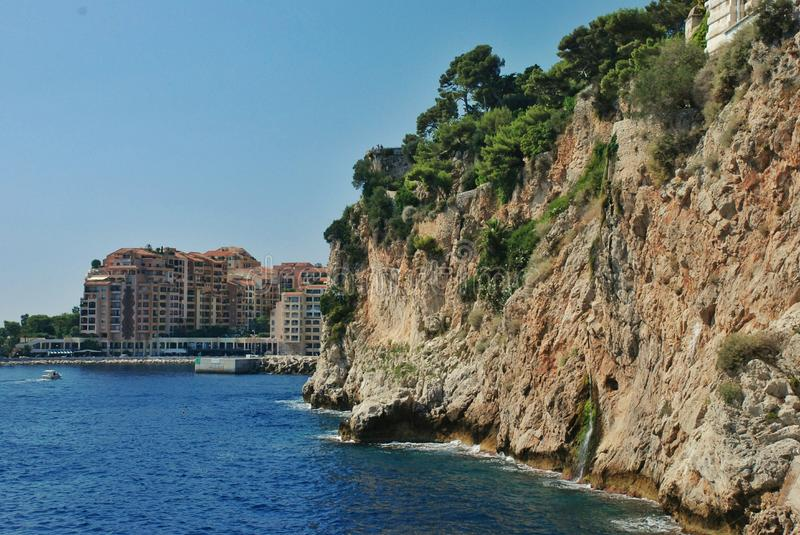 French Riviera. Coastal area of southeastern France, along the Mediterranean Sea, roughly coterminous with the French Riviera. It includes the towns of Cannes stock photography