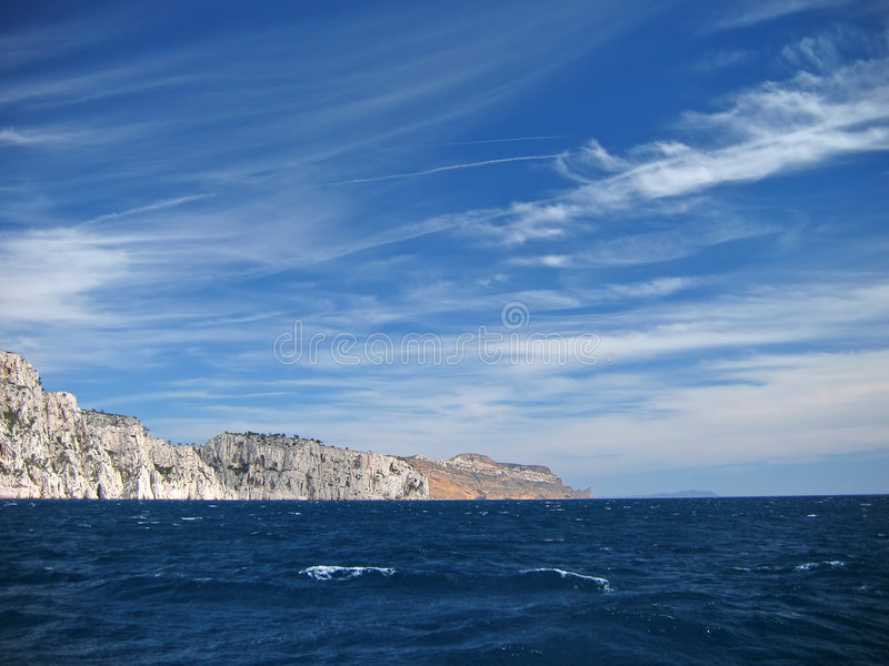 French riviera coastline royalty free stock image