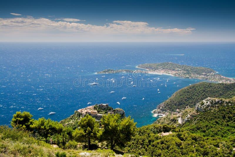 French Riviera coastline royalty free stock photos