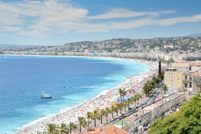 French Riviera coastline royalty free stock image