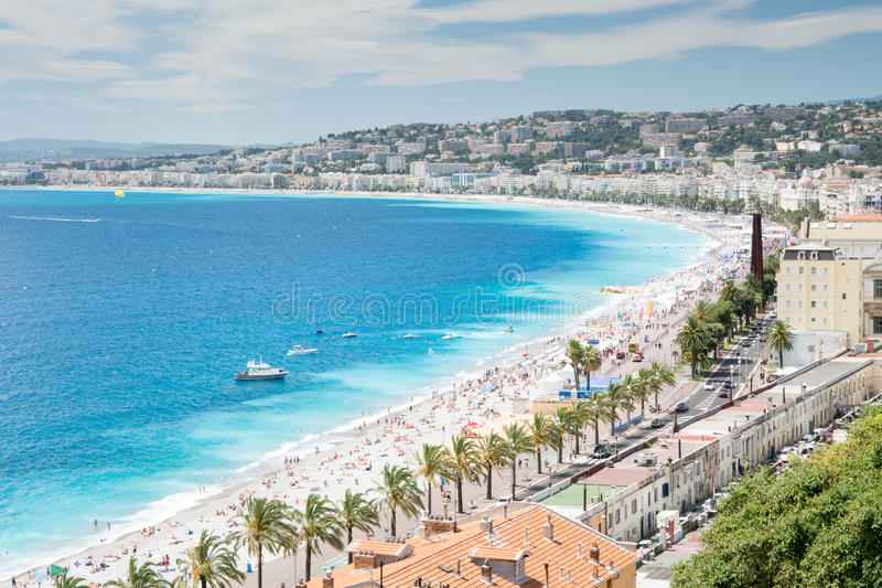 French Riviera coastline royalty free stock images