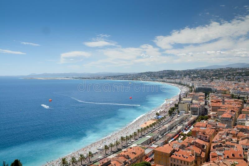 French Riviera coastline royalty free stock photo