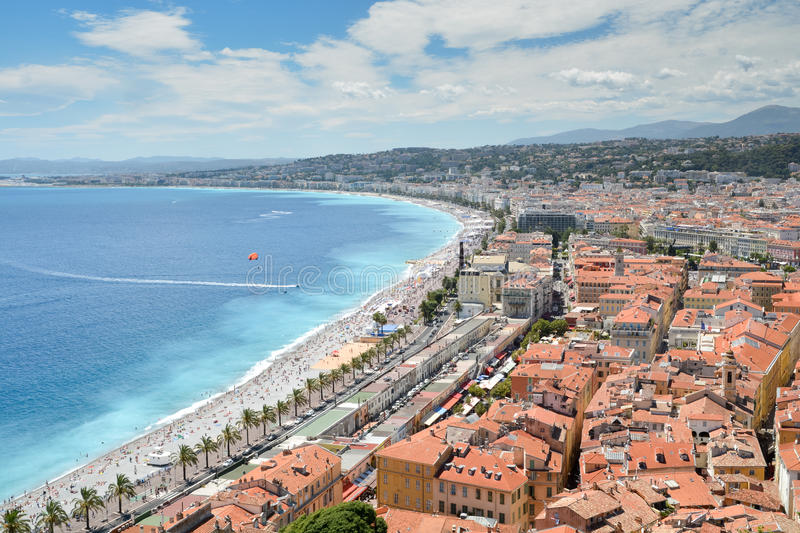 French Riviera coastline stock images