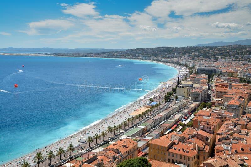 French Riviera coastline stock photo