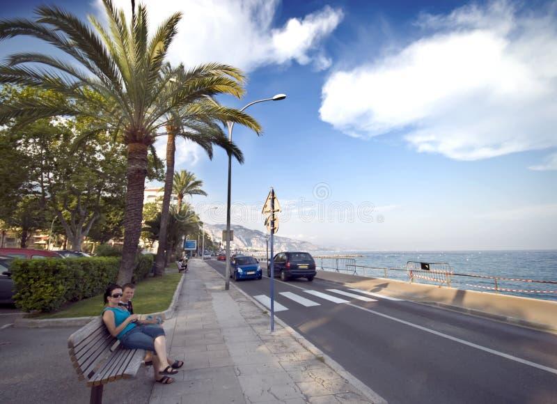 French Riviera In Menton Stock Photos