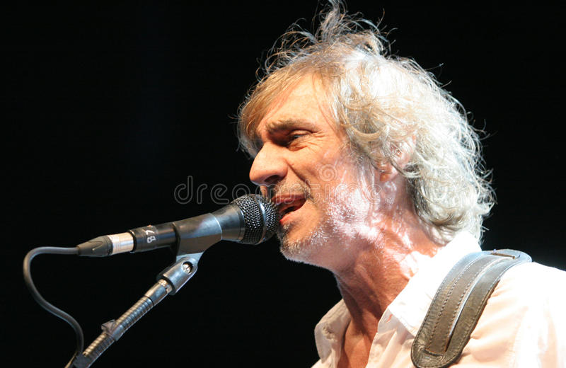 The french singer and artist's Louis Bertignac royalty free stock photo