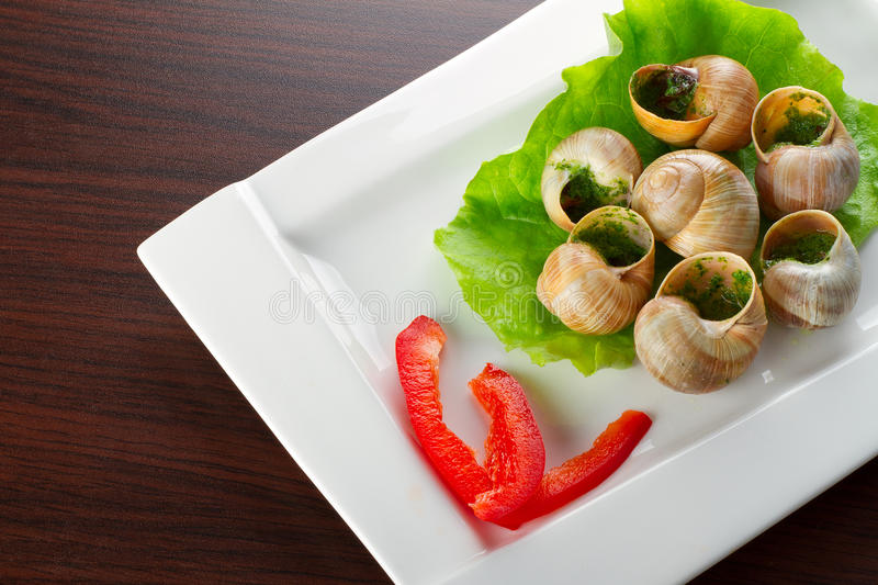 Download French Snails In Garlic Butter Stock Photo - Image: 26929120