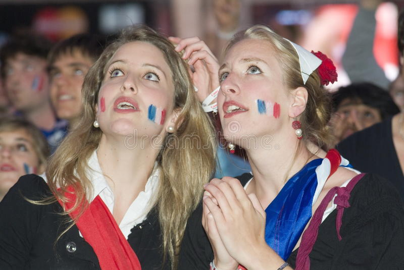French soccer fan royalty free stock images
