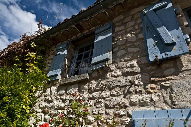 French stone house royalty free stock image