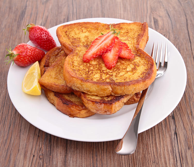French sugar toast stock photography