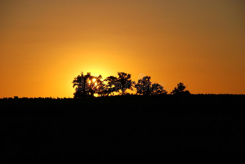 French Sunset royalty free stock photos