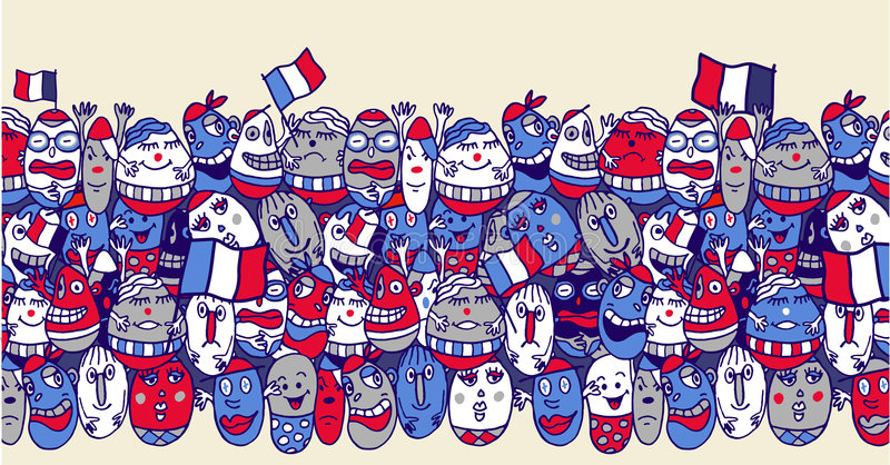 French supporters vector illustration