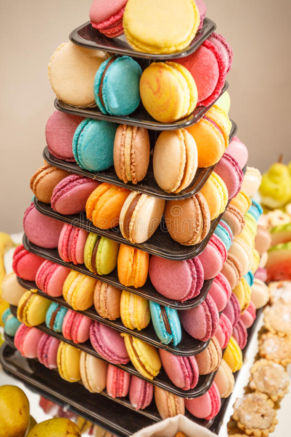 Download French sweet macaroons stock image. Image of cuisine - 83708163