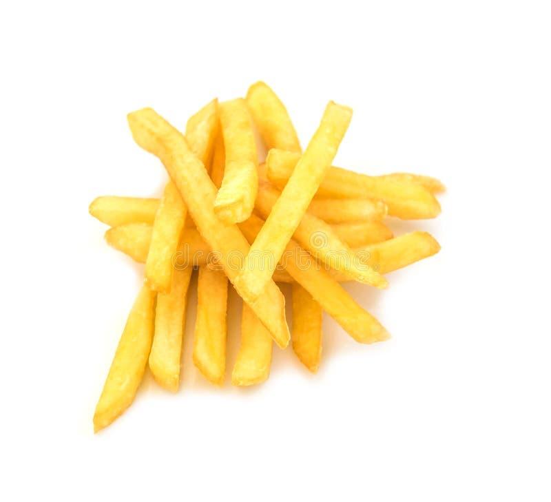 french tło żywności fry obraz fiutka szereg białych fotografia royalty free
