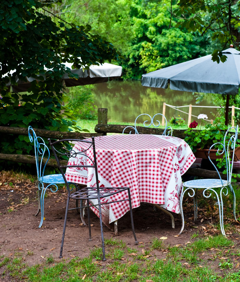 Download French table stock photo. Image of tablecloth, tree, gingham - 20570448