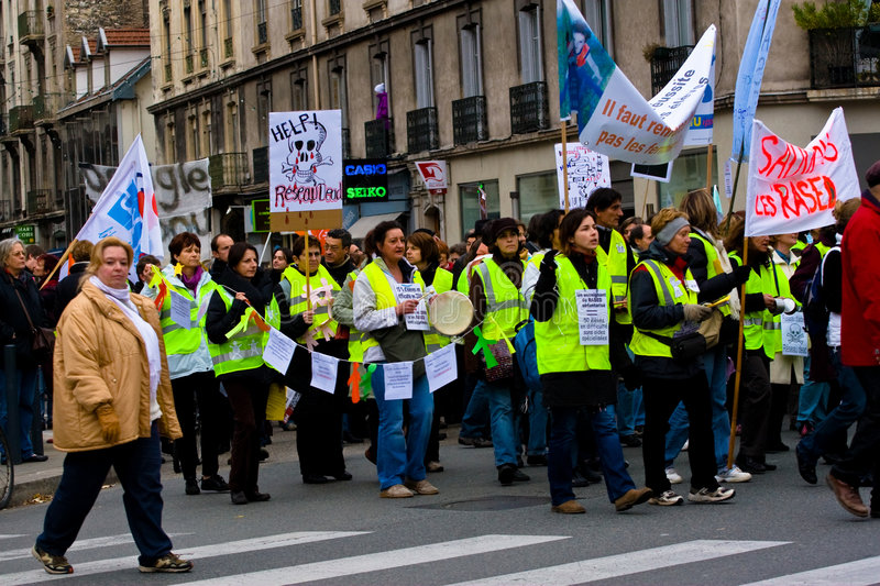 French Teachers Strike royalty free stock images