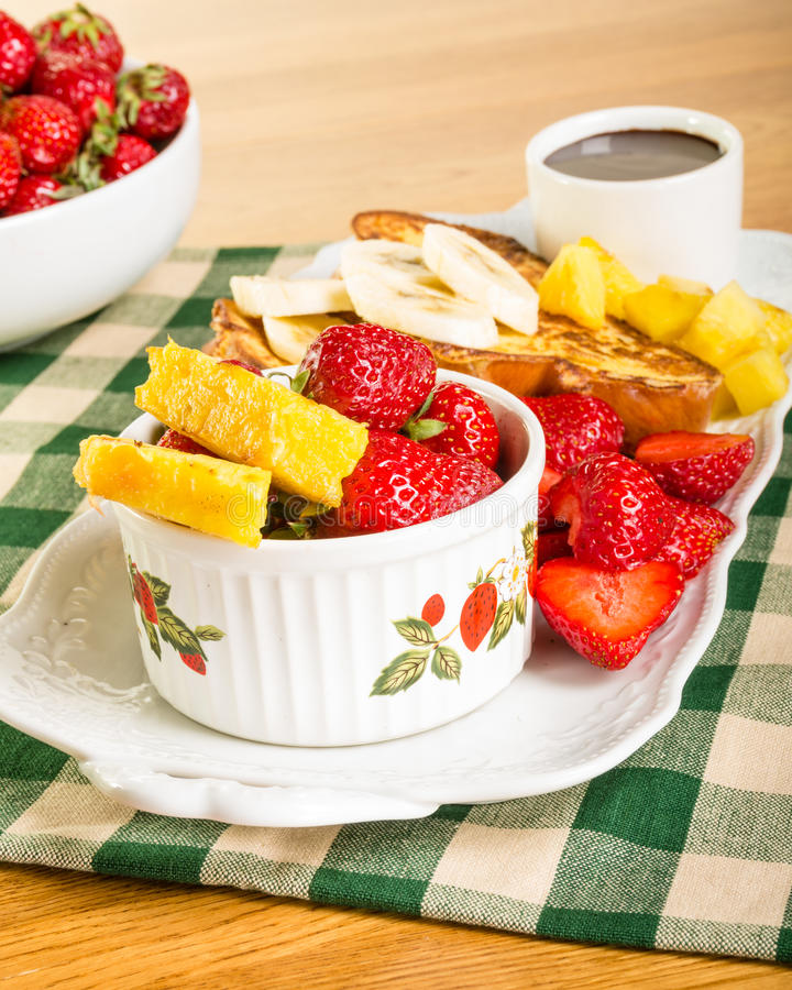 Download French Toast With Fruit And Coffee Stock Photo - Image: 31368084