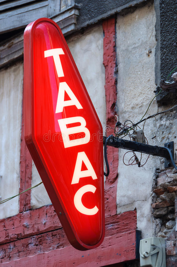 Free French Tobacconist Sign Stock Photography - 38688052