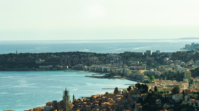 French Town Panoramic Landscape. French Town Panoramic View Landscape royalty free stock images