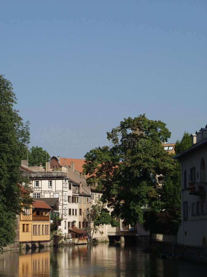 French town : Strasbourg stock image