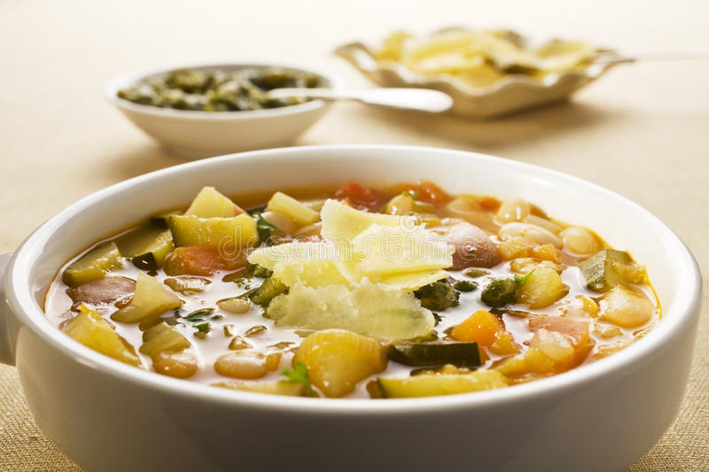 French Vegetable Soup royalty free stock photo