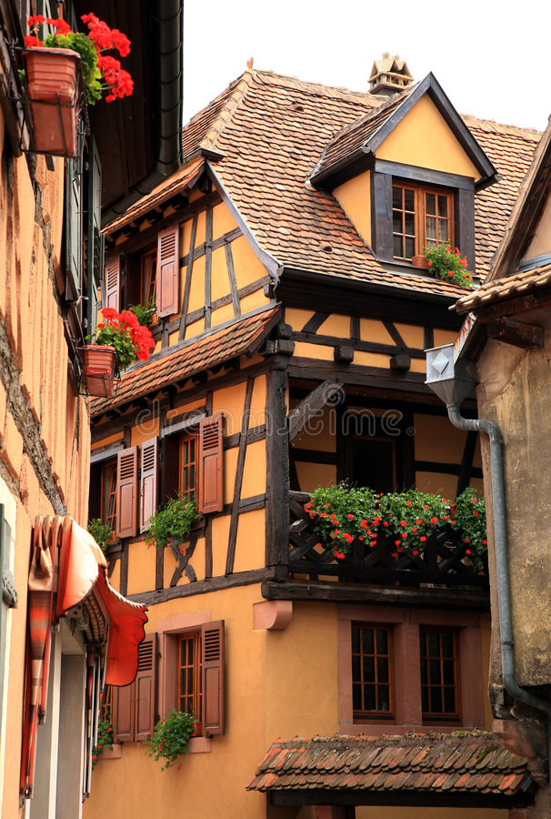 Free French Village, Alsace, France Royalty Free Stock Photo - 4829555