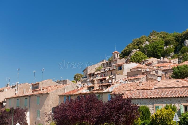 French village Bauduen. Near the lac de Sainte Croix royalty free stock images
