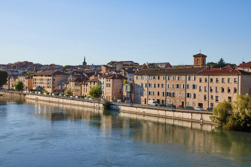 French village of Bourg de Peage, France. Bourg de Peage is a commune in the Drome department and in the Auvergne Rhone Alpes region in southeastern France royalty free stock photography