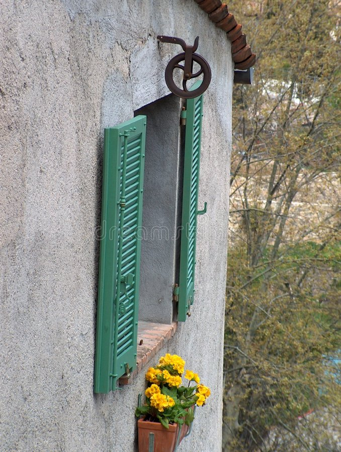 Download French window stock photo. Image of rural, house, wall, pulley - 21896