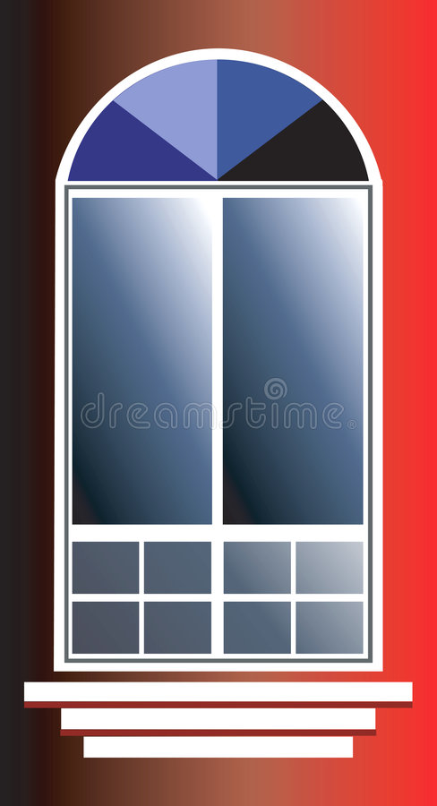 French window stock illustration