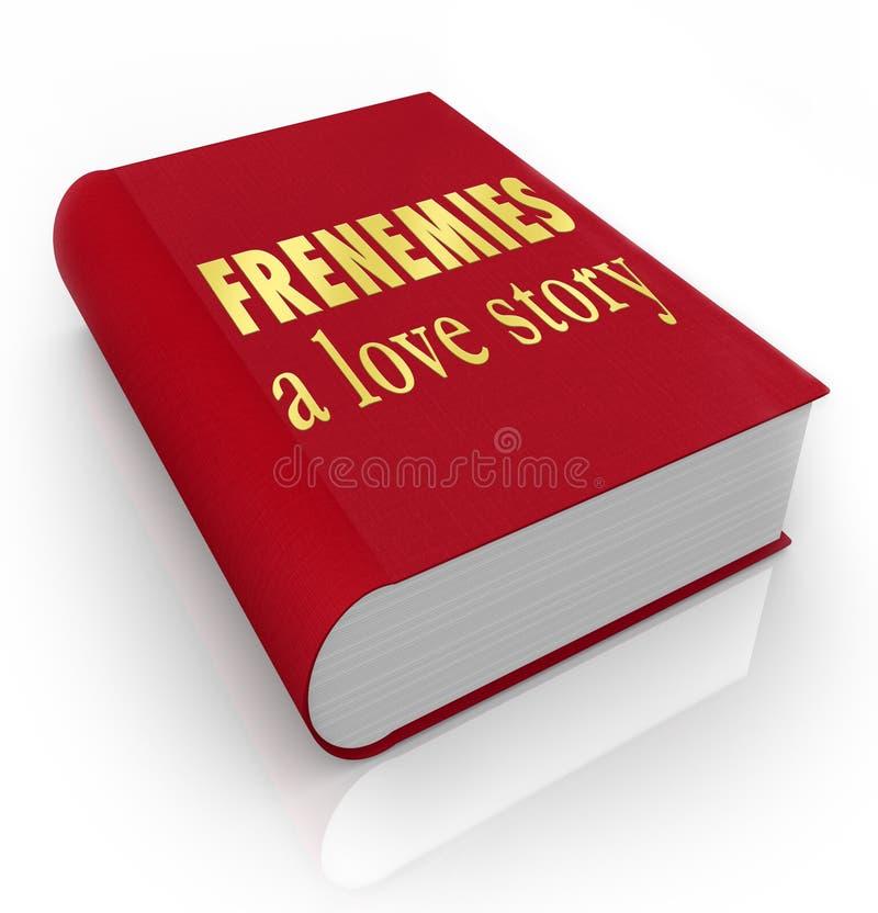 Frenemies los amigos de Love Story de una cubierta de libro siente bien a enemigos ilustración del vector