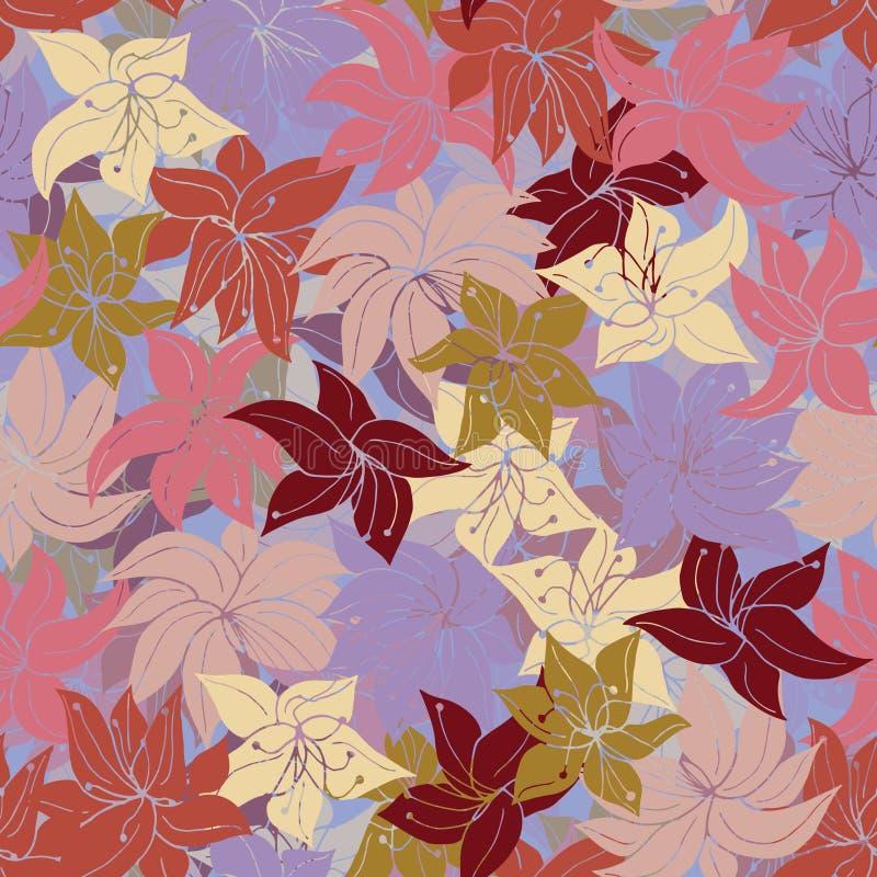 Frenesí floral del melocotón ilustración del vector