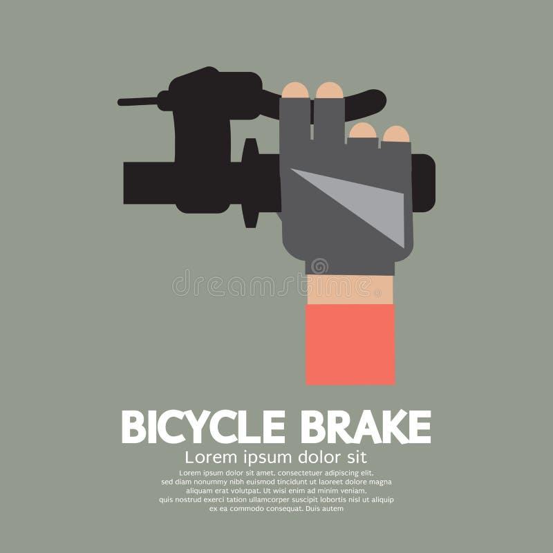 Freno della bicicletta illustrazione di stock