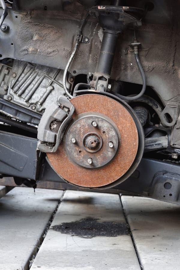 Freno y calibrador de disco del coche imagen de archivo libre de regalías
