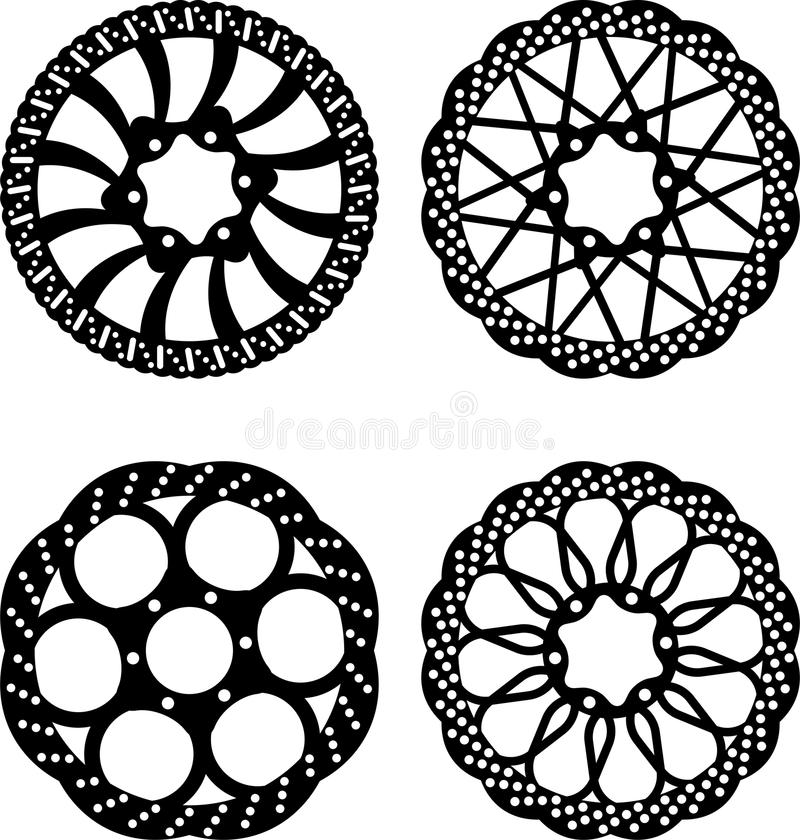 Frenos de disco stock de ilustración