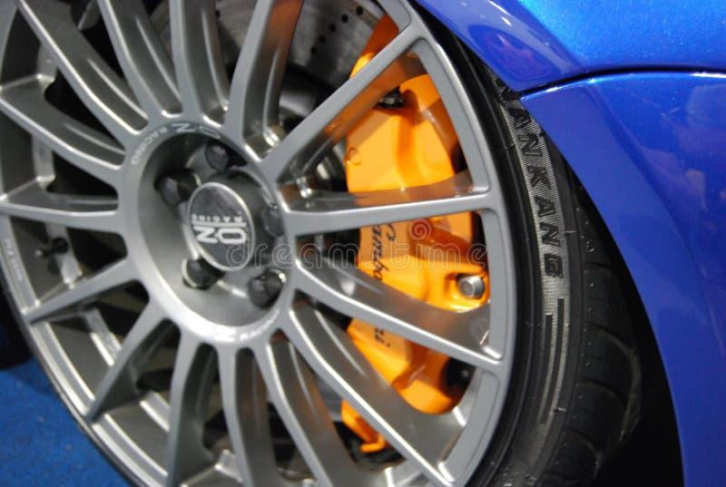 Frenos de Lamborghini imagen de archivo