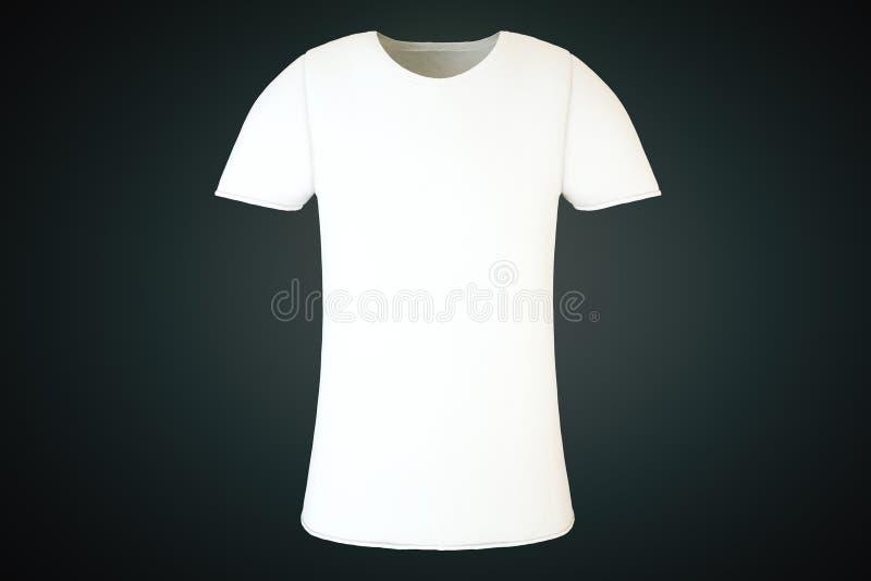 Frente blanco en blanco de la camiseta stock de ilustración