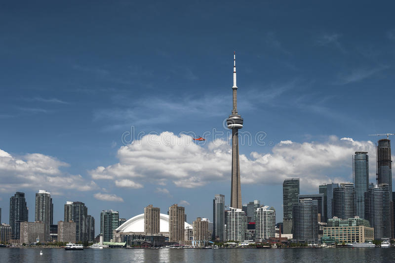 Frente céntrico del puerto de Toronto imagenes de archivo