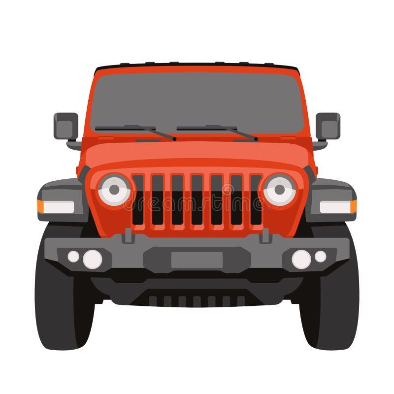 Frente campo a través del ejemplo del vector del jeep del vehículo libre illustration