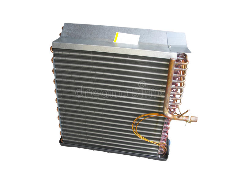 Frente de la bobina de evaporador aire acondicionado del acondicionador de aire foto de archivo libre de regalías